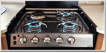 gas cooktop installation